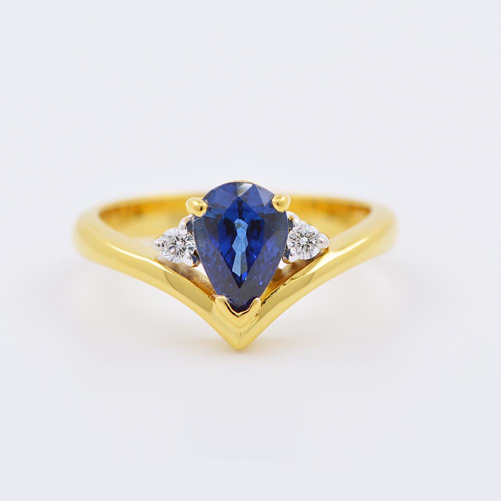 แหวนทอง 18 k เกาะเพชรเกาะพลอย