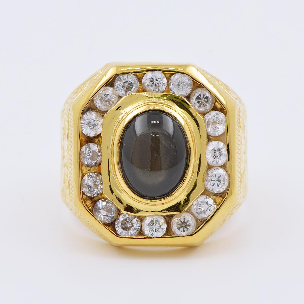 แหวนทองคำเจือเกาะพลอย